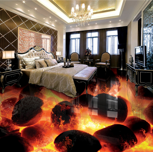 3D Flamme 4 Fototapeten Wandbild Fototapete Tapete Familie DE Lemon