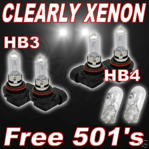 Effacer Xénon Ampoules pour TOYOTA COROLLA VERSO 01//04 HB4 HB3