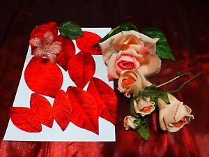Lot Fleurs Tissus Les Roses Et Feuilles Rouges Pour Futures Créations Diverses Jwc4olvv-08004327-836676016