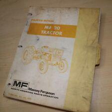 Mf Massey Ferguson 20 Tractor Parts Manual Book Catalog Spare Wheel Farm List