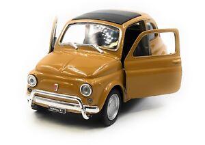Modellino-Auto-Fiat-Nuova-500-1957-1975-D-039-Epoca-Beige-Auto-1-3-4-39-Licenza