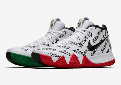 more photos 96ce2 a5cb2 Nike Kyrie 4 BHM Equality Size 10. AQ9231-900. White Black Red Green. | eBay