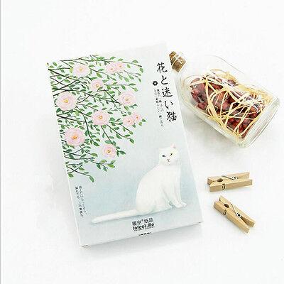 """Japanese Cat"" 30 Pcs Mixed Postcards Set Postcard Lot Box Beautiful Bookmark"