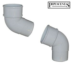 Gutter Swan Neck Down Pipe Rainwater Offset Bend Set 68mm White for Drain Pipe