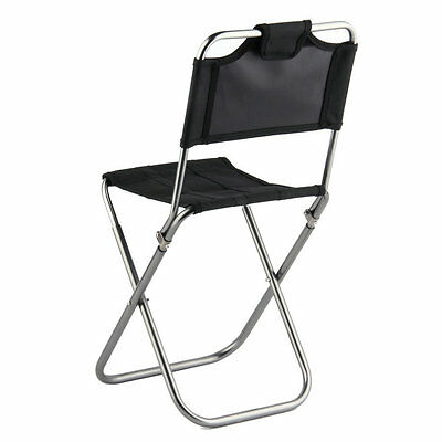 Portable Folding Aluminum Oxford Cloth outdoor Fishing Camping backrest chair #&