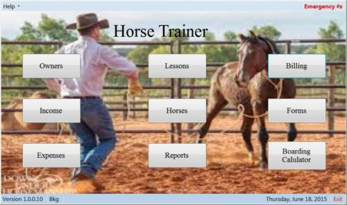 Horse,Trainer,Train students in western//english,schedule,board,bill,Made in USA
