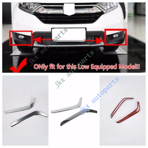 Interior Mouldings Abs Chrome Front Fog Light Cover Trim Accessories For Honda Crv 2017 2018 Low Equipped Model