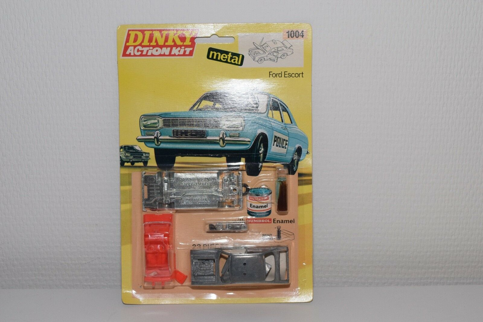DINKY TOYS KIT 1004 FORD ESCORT PANDA POLICE CAR MINT BOXED