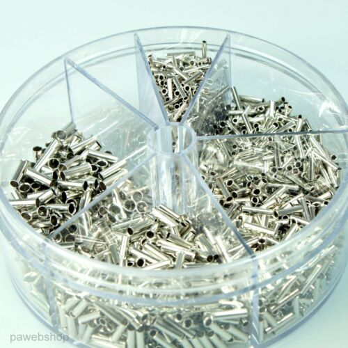 Sortiment 1900 Aderendhülsen Streudose 0,5-2,5mm² unisoliert versch Größen