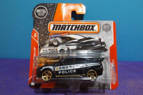 MBX RESCUE 14//30 Mint short card. 2018 Matchbox /'15 SUBARU WRX STI POLICE CAR