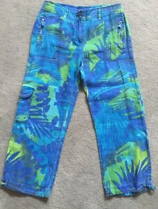 crop 5 88 Pantaloni Chico Green 1 Happy Blue Nwt Donna Energy Multi Hwwqn6RT