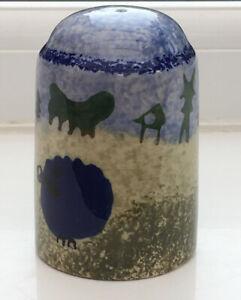 Vintage-Salt-Cellar-Arthur-Wood-Blue-Sheep-8-5-X-5-5-Cm-Ceramic