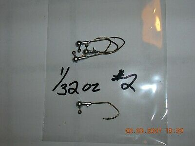 50 1//24oz Ball Head Jigs Bronze Mustad Hooks #8  #6  #4  #2  #1 U Choose