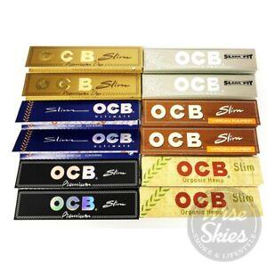 12 x OCB Rolling Papers OCB Premium Slow Burning Virgin Unbleached Organic Hemp