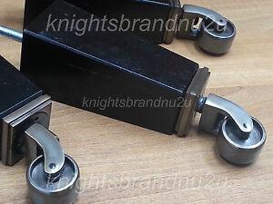 4x-FURNITURE-LEGS-amp-ANTIQUE-CASTOR-FEET-185mm-HIGH-FOR-SETTEE-CHAIR-SOFA-M8-8mm