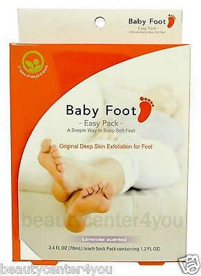 BABY FOOT Easy Pack (Foot Gel for removal of dead skin cells) Foot Peel  2.4 oz