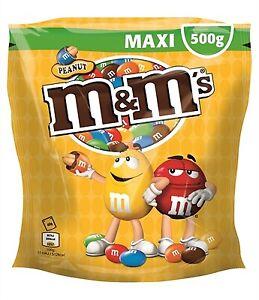 0-90-100g-m-amp-m-039-s-Peanut-Party-Beutel-500g-Erdnuss-Schokolade-Kugeln-M-amp-M