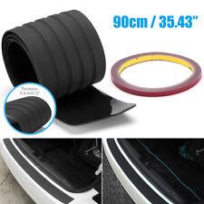 Rear Bumper Guard Sill Plate Trunk Protector Trim Cover Black Rubber Pad Kit Fits Pontiac Sunfire