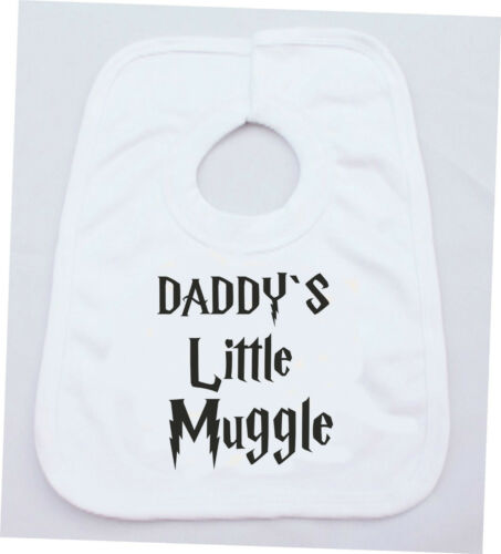 PERSONALISED DADDY/'S MUMMY/'S LITTLE MUGGLE HARRY POTTER COTTON BABY VEST OR BIB