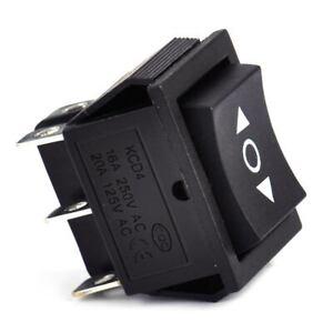 interrupteur a bascule 6 Pin 3 positions DPDT ON OFF AC250V 16A Rocker Switch FR