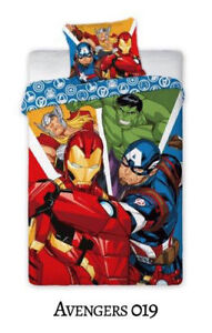 2 Ltg Bettwäsche Marvel Avengers Hulk Ironman Thor Groot 100