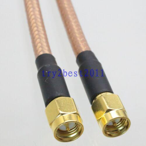 RG142 SMA plug pin to SMA plug pin RF Jumper pigtail Cable 25CM