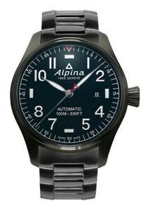 Alpina-Men-039-s-Startimer-Pilot-Automatic-Black-44mm-Watch-AL-525NN4TS6B