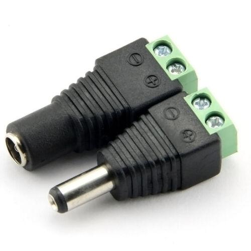 DC Buchse Stecker Hohlstecker Steckverbinder mit Schraubklemme 2,1x5,5mm Adapter