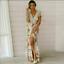 Boho-dresses-for-women-Sundress-UK-Ladies-V-Neck-Beach-Maxi-Dress-Holiday-Floral thumbnail 16