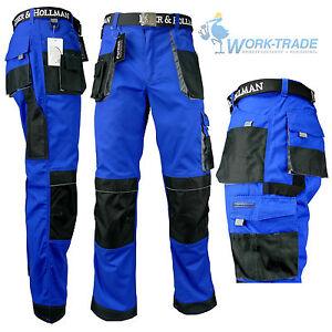 Arbeitshose-Bundhose-Arbeitskleidung-Hose-Herren-blau-schwarz-grau-Gr-46-62