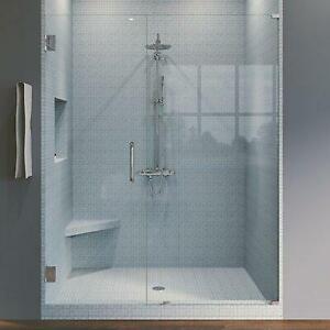 Symphony Shower Doors Porte de douche à charnière sans cadre 53 po x 76 po Québec Preview