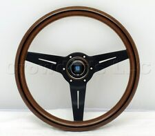 Nardi Steering Wheel Deep Dish Corn 330 mm Mahogany Wood Black Classic Horn