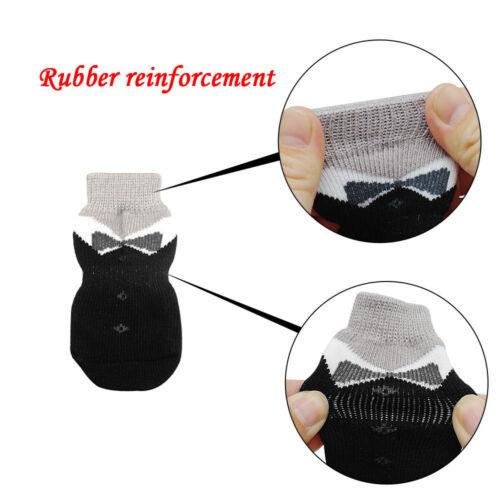 4pcs Anti Skid Pet Dog Socks Dog Paws Protective Kitten Dog Shoes Boots Socks