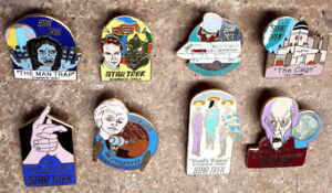 Original Star Trek Classic TV Season 1 Episode Pin Starter Set of 8 First Season