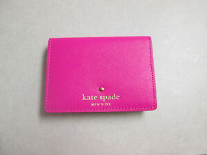 save off f9802 3ef34 Details about Kate Spade New York Glitter Card Holder Wallet Pink NEW