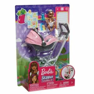 BARBIE SKIPPER BABYSITTERS INC AA BABY DOLL and STROLLER ...