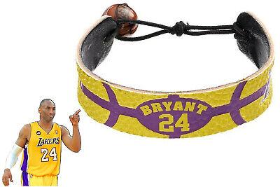 Kobe Bryant Bracelet Lakers NBA Basketball Leather Signature Team Color Tribute 877314005621   eBay