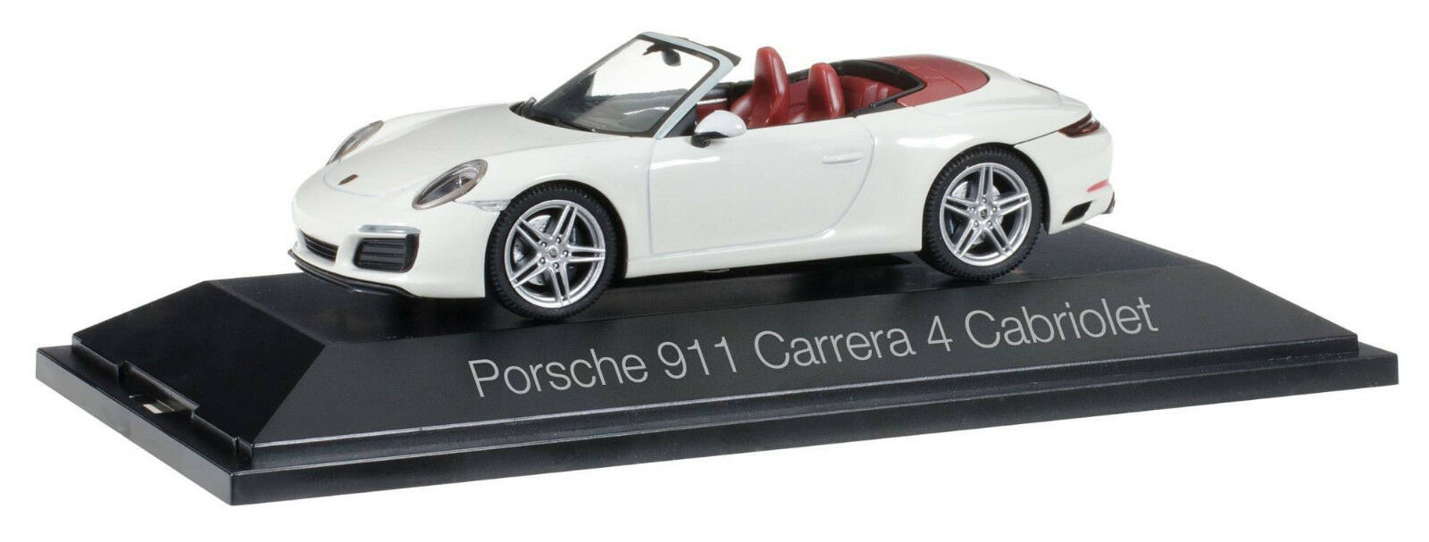Herpa 071116 Porsche 911 Carrera 4 Cabrio dans carreraweissmetallic 1 43 NOUVEAU & NEUF dans sa boîte