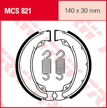 Mâchoires de frein Arrière TRW Lucas MCS 821 pour Honda GB 500 Clubmann 88