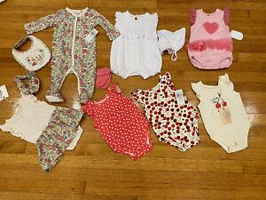 JESSICA SIMPSON BABY GIRL Lot Of 14 Pieces 6-9 M