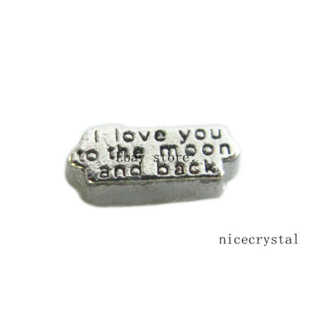 10pcs i love you Floating charms For Glass Memory Locket Free shipping FC898