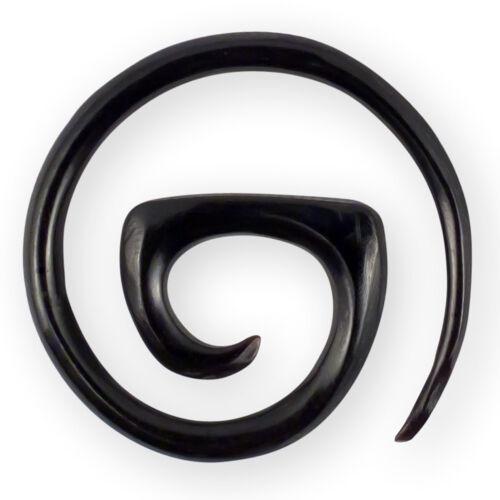 Cuerno huesos expansor espiral dehnungssichel caracol Plug bollos túnel aretes