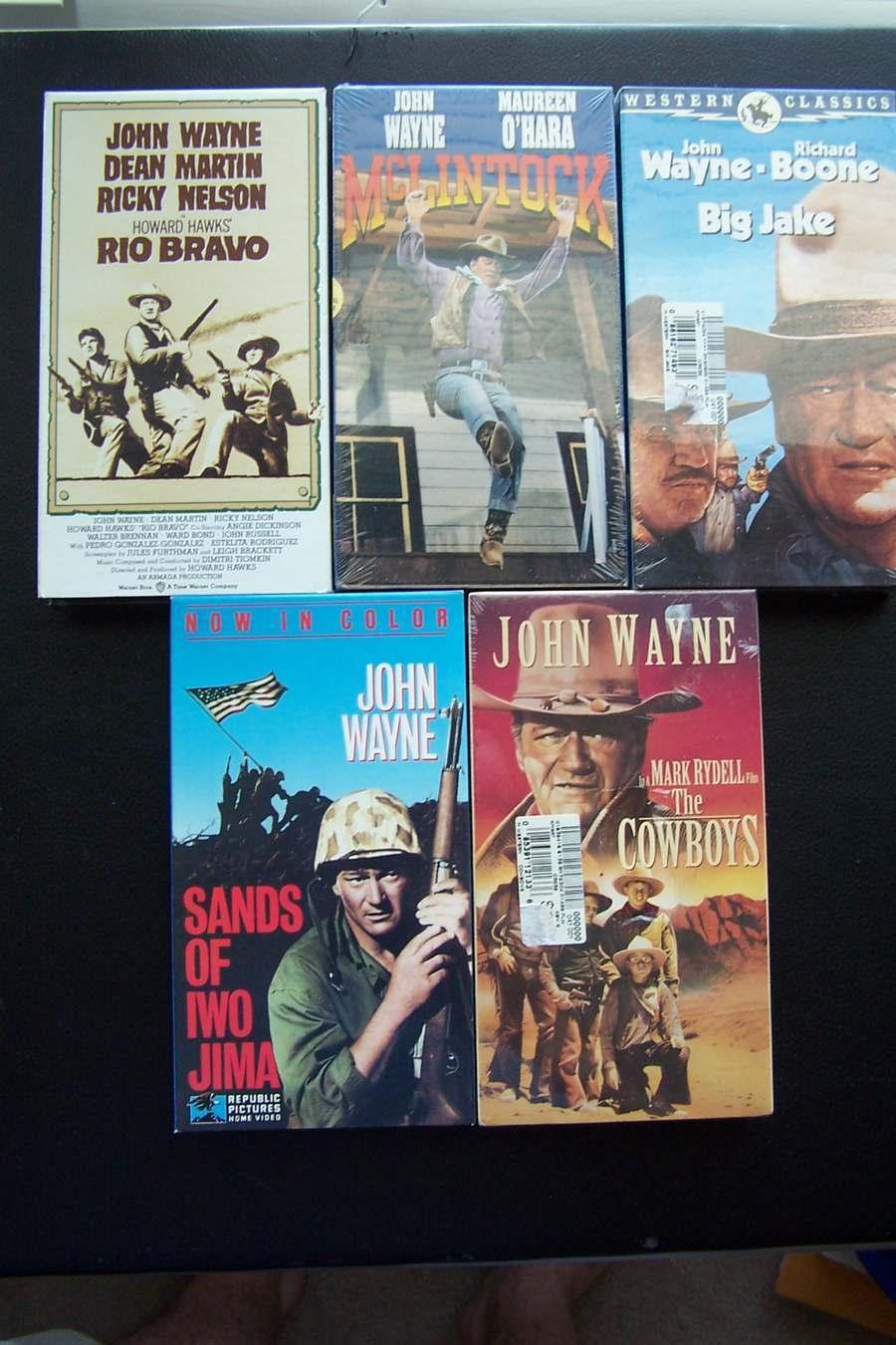 John Wayne 5 VHS Lot McLintock, Rio Bravo, Big Jake, Co