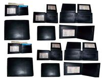 12 Man's Leather Wallet 12 Credit card Holder 2 ID  Bifold, Black, Unbranded nwt