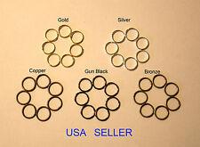 4mm,5mm,6mm,7mm,8mm,9mm,10mm Jump Rings Open Connectors 5 Colors & mixed