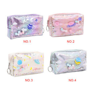 Key-Coin-Purse-Holographic-Zipper-Pencil-Case-PU-Stationery-Storage-Pouch