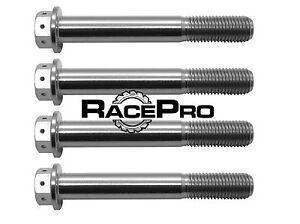 Details about RacePro - 4x Race Drilled Titanium Caliper Bolt GR5 M10 x  1 25mm x 70mm