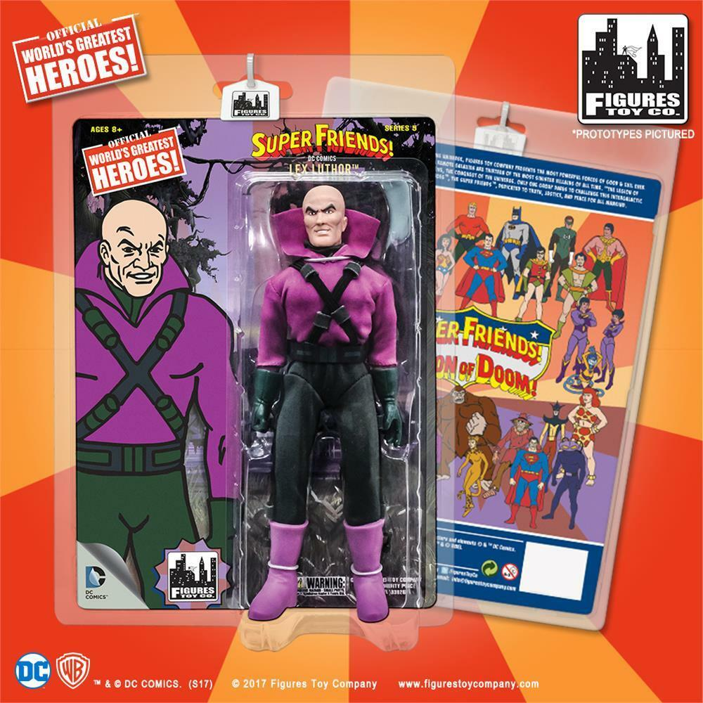 DC Super Friends Legion of Doom LEX LUTHOR 8 inch retro styled action figure NEW