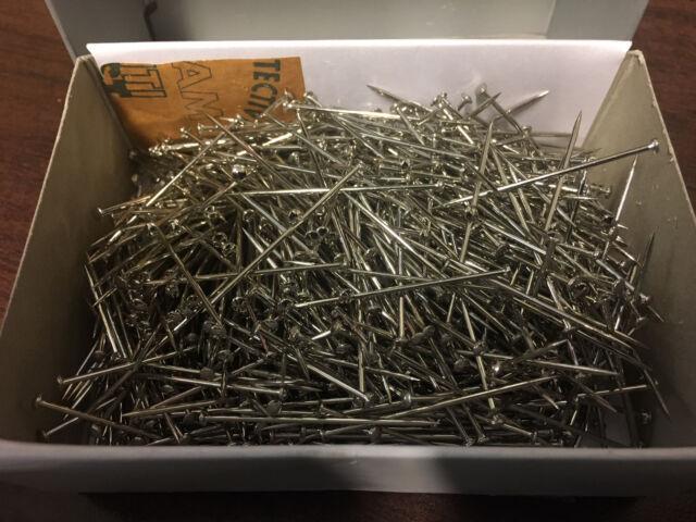 1 Box // Pack Vintage Prym #17 Steel Extra Fine Satin Pins 1//2 Lb Premium Nickel Plated Steel 1 1//16\ Long