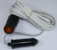 12v 12 volt 2 metre Cigar Cigarette Lighter Socket Adaptor Extension Cable Lead